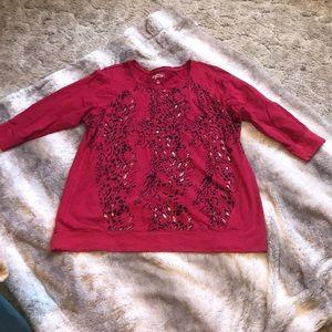 Style&co lightweight 3/4 sleeve sweatshirt